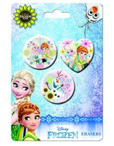 Гумички Disney Frozen, 3 бр, блистер