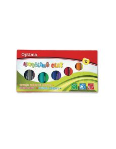 Пластилин Optima, 12 цвята, 200g