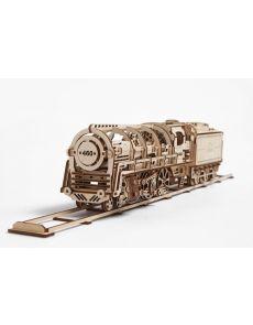 3D Механичен локомотив с тендер