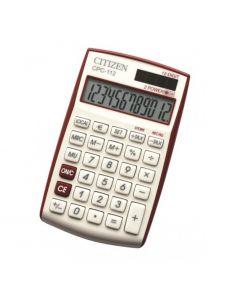 Настолен калкулатор Citizen Vivid CPC 112, червен