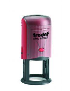 Печат Trodat Printy, диаметър 45mm, кръгъл, черен