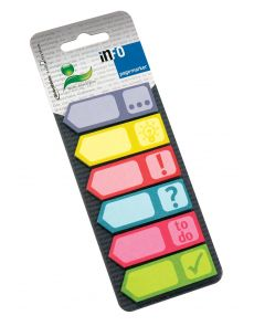 Самозал.листчета Info notes Page Marker, 6 цвята
