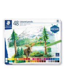 Цветни моливи Staedtler DJ, 48 цвята в метална кутия