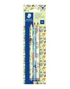 Моливи Staedtler Pattern, HB, Jumbo,3 бр, блистер