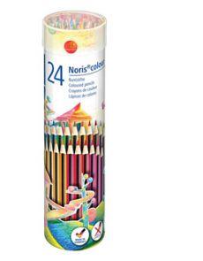 Цветни моливи Staedtler Noris 185, 24 цвята, метален тубус