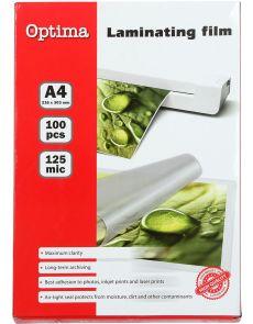 Фолио за ламиниране Optima А4, 125my, опаковка 100