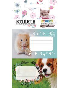 Етикети за тетрадка Street Animals Cute, опаковка 10