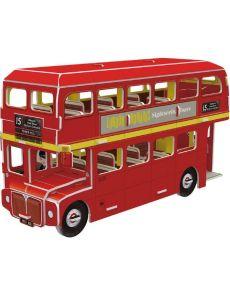 Мини пъзел 3D – Лондонски автобус