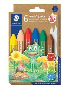 Пастели Staedtler Noris Junior 224, 6 цвята