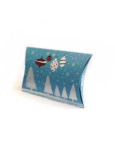 Подаръчна кутия тип възглавничка, голяма, злато