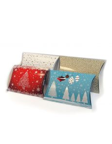 Подаръчна кутия тип възглавничка, малка, злато