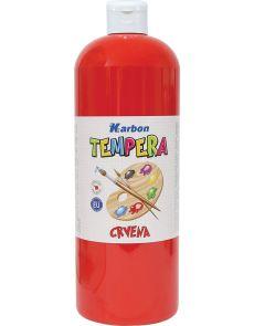 Темперна боя Karbon, 1000мл в бутилка, червена