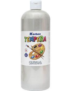Темперна боя Karbon, 1000мл в бутилка, сребриста