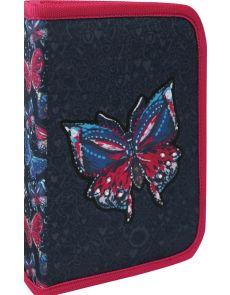 Несесер Sky Butterfly, 1 цип, 1 пр, 20,5x14,5x4cm