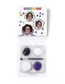 Комплект бои за лице Snazaroo Mini Kits, 3 цвята, маска