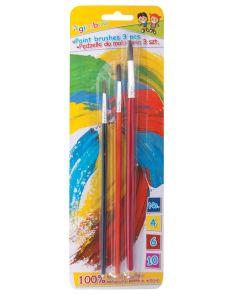 Комплект четки за рисуване Gimboo, опаковка 3, № 4, 6, 10