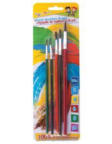 Комплект четки за рисуване Gimboo, опаковка 5, № 2,4,6,8,10