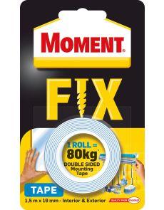 Двойнолепяща монтажна лента MomentFix1.5м x 19мм,80кг