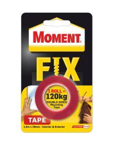 Двойнолепяща монтажна лента MomentFix1.5м x19мм,120кг