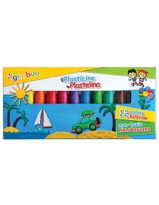 Пластилин Gimboo, 12 цвята