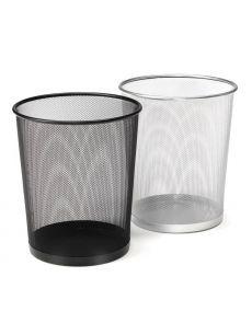 Кош за отпадъци Optima, мет. мрежа, 20 листа, сребрист