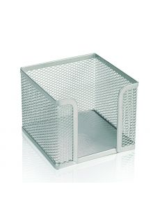 Поставка за хартиен куб, метална мрежа, сребриста