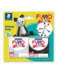 Комплект глина Staedtler Fimo Kids, 2x42g, Cats