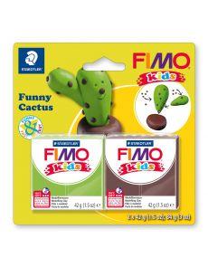 Комплект глина Staedtler Fimo Kids, 2x42g, Cactus