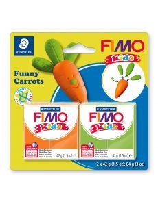 Комплект глина Staedtler Fimo Kids, 2x42g, Carrots