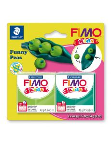 Комплект глина Staedtler Fimo Kids, 2x42g, Peas