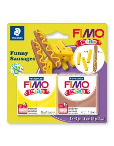 Комплект глина Staedtler Fimo Kids, 2x42g, Sausages