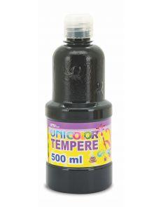 Темперна боя Uniline, 500мл в бутилка, черна