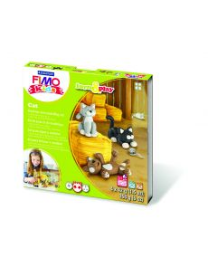 Комплект глина Staedtler Fimo Kids, 4x42g, Cat