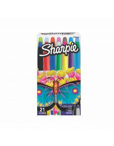 Комплект перманентни маркери Sharpie, UF, 21 цвята, в кутия