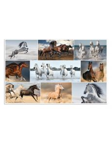 Подложка за бюро Herma, 55x35 cm, коне