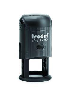 Печат Trodat Printy, диаметър 25mm, кръгъл, син
