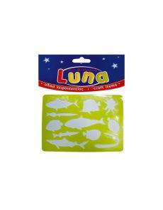 Детски шаблон за рисуване - Luna