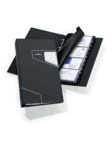 Визитник с азбучник Visifix Pro черен, 200 визитки