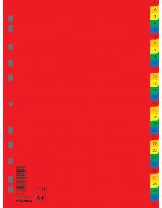 Разделители Donau PP, 1-31, цветни