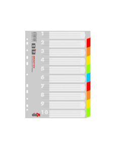 Разделители Office Products А4, картон, 10 цвята