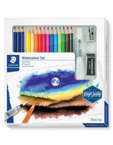 Комплект Staedtler DJ Watercolour Set, 18 части
