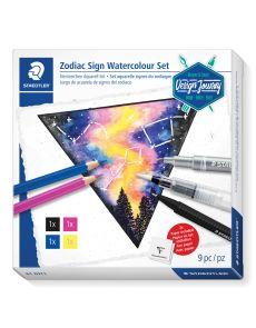 Комплект за рисуване Staedtler DJ Watercolour, 9 части