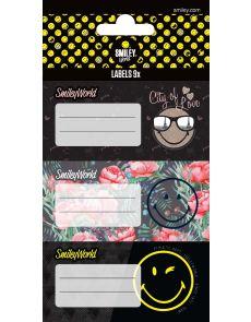 Етикети за тетрадка Smiley World, опаковка 9