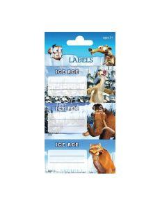 Етикети за тетрадка Ice Age, опаковка 9