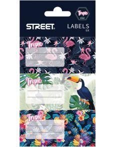 Етикети за тетрадка Street Tropic, опаковка 9
