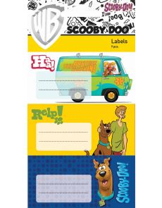 Етикети за тетрадка SCOOBY-DOO, опаковка 9