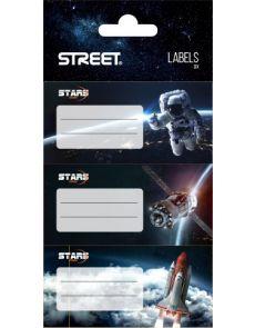 Етикети за тетрадка Street Stars, опаковка 9