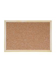 Дъска Bi-Office коркова с дървена рамка, 60x90 cm
