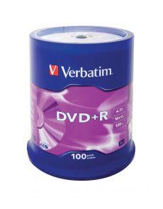 DVD+R Verbatim 4.7GB 16x, опаковка 100 на шпиндел