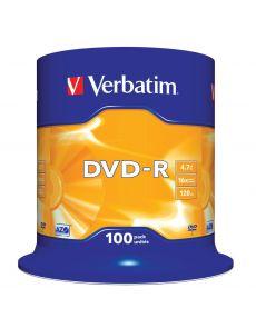DVD-R Verbatim 4.7GB 16x, опаковка 100 броя на шпиндел